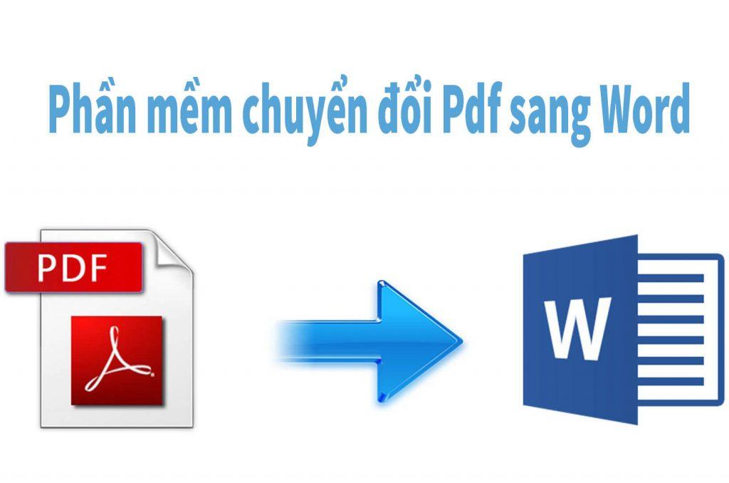 Phần mềm chuyển đổi pdf sang word