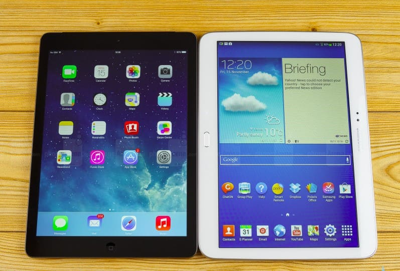 So sánh các tính năng giữa iPad và máy tính bảng