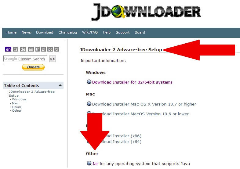 Tải miễn phí JDownloader
