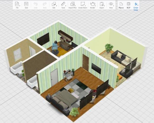Phần mềm thiết kế nhà 3D Homestyler