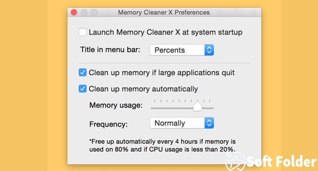 Phần mềm Memory Cleaner X