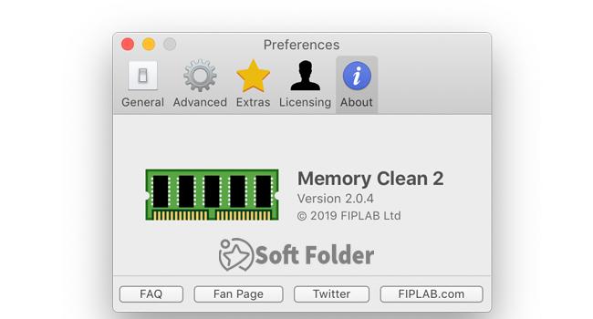 Phần mềm giải phóng bộ nhớ Memory Clean 2