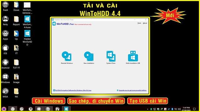 Các tính năng ưu Việt của việc Win to HDD Download