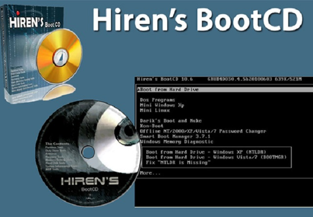 Giới thiệu phần mềm Hiren's BootCD