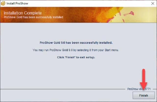 Hoàn tất cài đặt phần mềm proshow gold 9.0 full crack