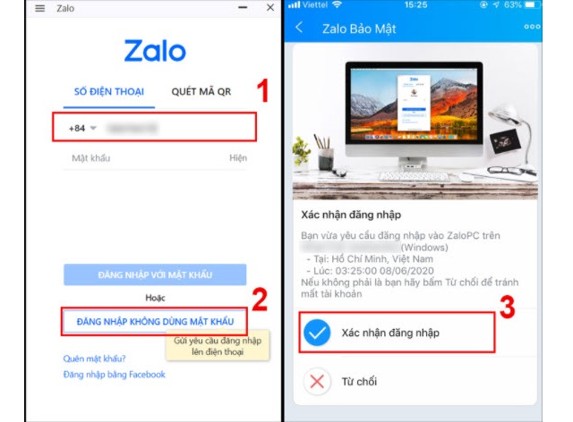 Hướng dẫn đăng nhập Zalo máy tính không dùng mật khẩu