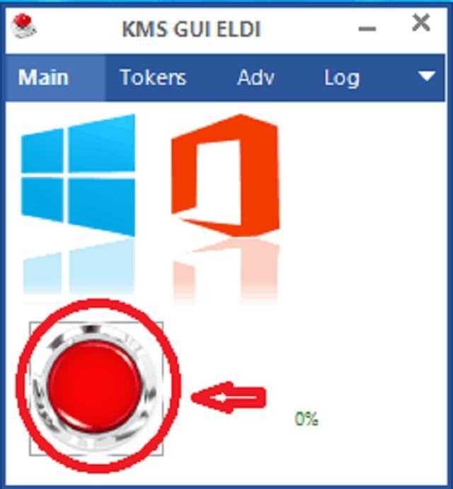 Nhấn vào nút đỏ để kích hoạt cả phần mềm Windows và Office