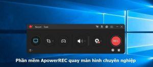 ApowerREC là phần mềm quay màn hình nhất định bạn phải trải nghiệm một lần