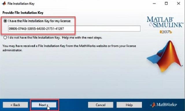 Nhập key vào ô để bắt đầu cài đặt phần mềm