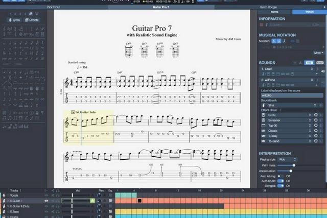 Phần mềm Guitar Pro